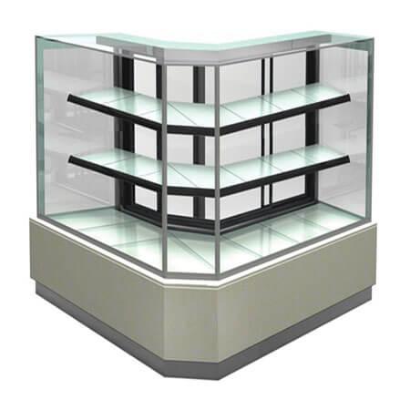 L Glass Display