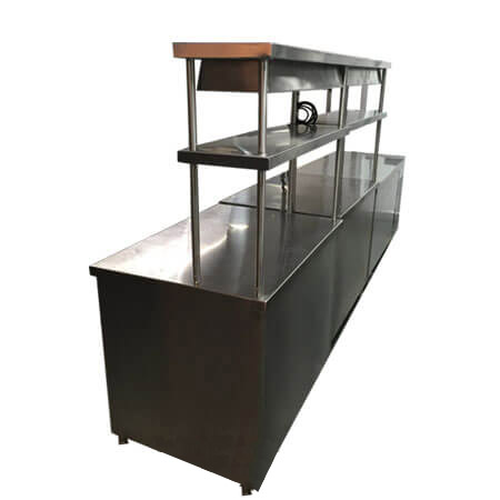 Service Counter with Food Warmer
